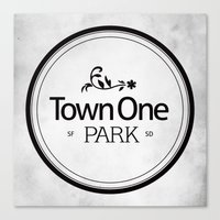 Town One Park Canvas Print