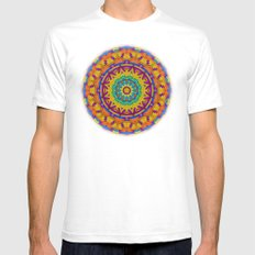 Colorful Geometry Mens Fitted Tee White SMALL