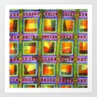 Light Behind Colourful G… Art Print