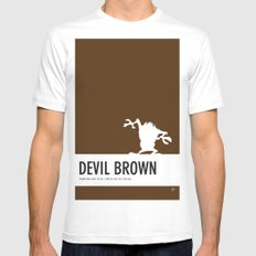 No16 My Minimal Color Code poster tasmanian devil White SMALL Mens Fitted Tee