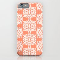 Behind Damask - Peach iPhone 6 Slim Case