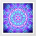 Pink Lavender Turquoise Mandala Art Print