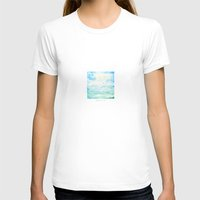 Ocean  Womens Fitted Tee White SMALL