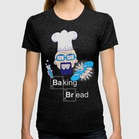 Baking Bread Womens Fitted Tee Tri-Black SMALL