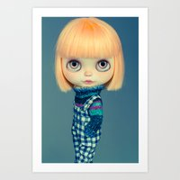 Titian blythe doll Art Print