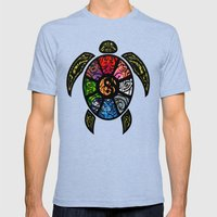 Bagua Turtle Mens Fitted Tee Tri-Blue SMALL