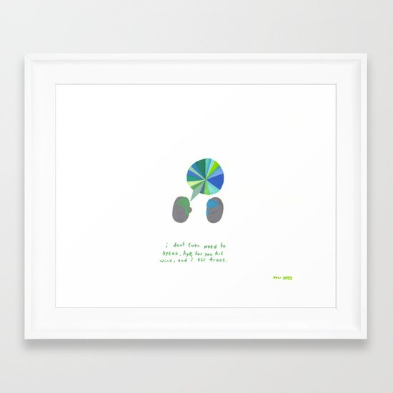 you are the wind, etc.  Framed Art Print