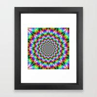 Psychedelic Explosion Framed Art Print