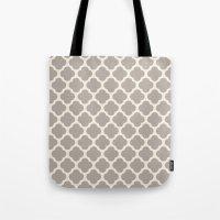 gray clover Tote Bag