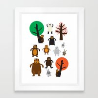 Bears, Grizzly And Other Framed Art Print