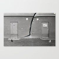 Concrete Vs Abstract Canvas Print