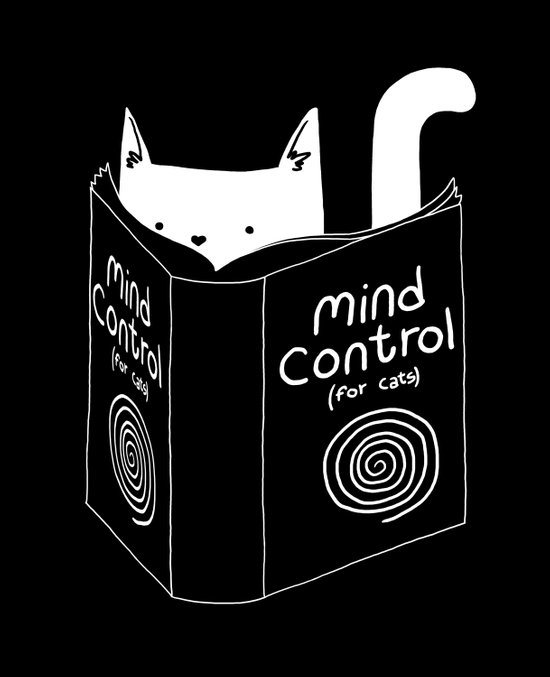 Mind Control 4 Cats Art Print