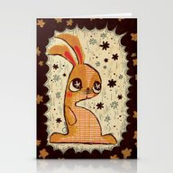 Stationery Cards featuring The Velveteen Rabbit by Pigologist
