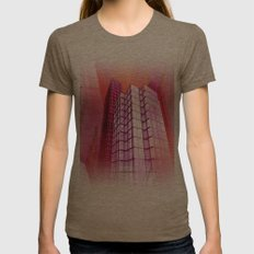 city art -a- Womens Fitted Tee Tri-Coffee SMALL