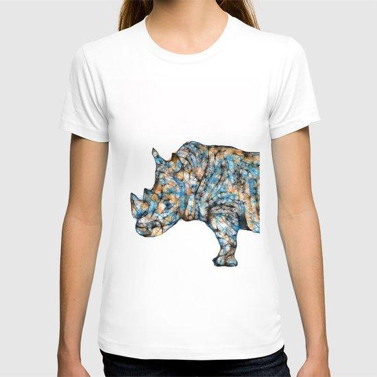 Rhino-no text T-shirt