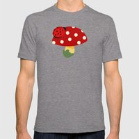 Ladybug Mens Fitted Tee Tri-Grey SMALL