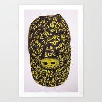 FRENCH BASEBALL CAP Art Print