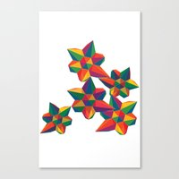 Hexagon Explosion Canvas Print