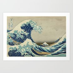 Great Wave Off Kanagawa … Art Print