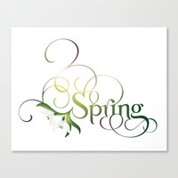 Spring Lettering Canvas Print