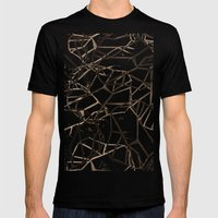 Geometric Pattern 1 Mens Fitted Tee Black SMALL