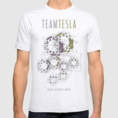 Team Tesla Mens Fitted Tee Ash Grey SMALL
