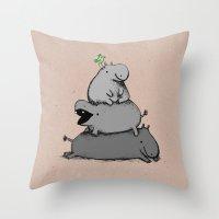 Hippo Totem Throw Pillow