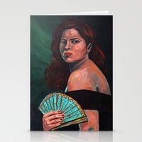 Lady With Fan Stationery Cards