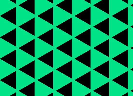 Sleyer Black on Green Pattern Art Print