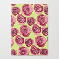 Bright Rose Pattern Canvas Print