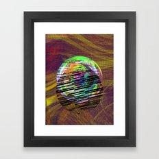 Marble Barcode Framed Art Print