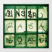 Window Words  Canvas Print