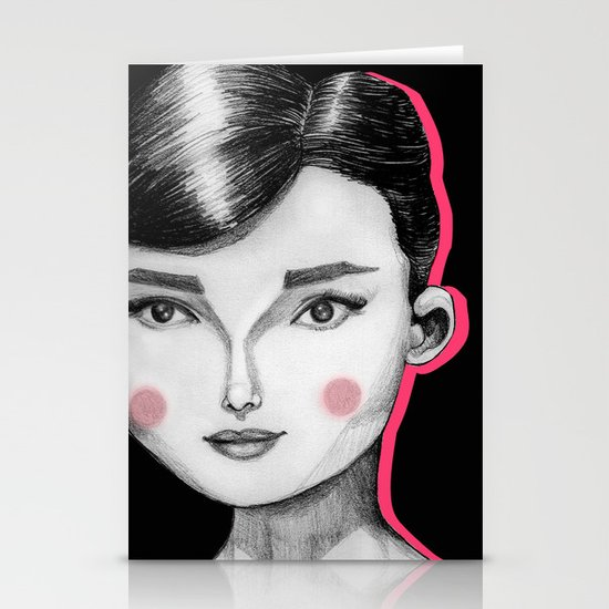 Audrey Hepburn Stationery Card