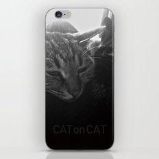 Cat on Cat iPhone & iPod Skin