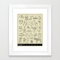 Animals A-Z Framed Art Print
