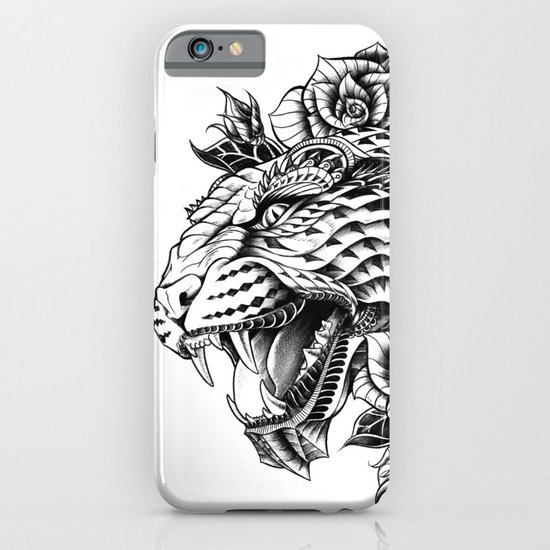 Ornate Leopard Black & White Variant iPhone & iPod Case