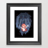 Little Red Fighting Hood Framed Art Print
