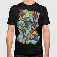 Abstraction Outline Mens Fitted Tee Tri-Black SMALL