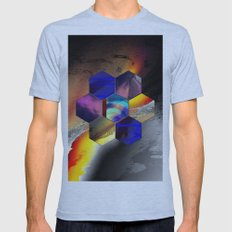 Hexagon II Mens Fitted Tee Athletic Blue SMALL