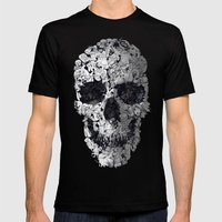 Doodle Skull Mens Fitted Tee Black SMALL