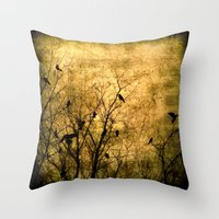 The Raven's Song Throw Pillow