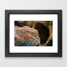 Gobble Rock Cave Framed Art Print