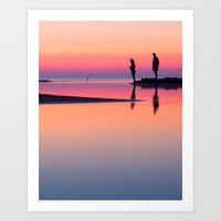 Pastels At Sunset Art Print
