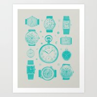 Blue version Art Print