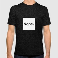 NOPE. Mens Fitted Tee Tri-Black SMALL