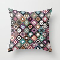 festival dusk diamond Throw Pillow