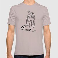 Alien Cat Mens Fitted Tee Cinder SMALL