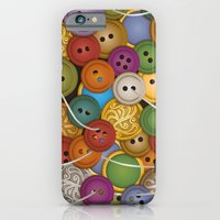 iPhone & iPod Case featuring Buttons by Megs stuff...