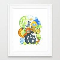Bamboo Bunch Framed Art Print
