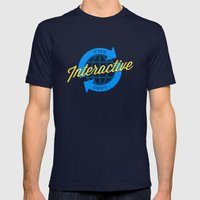 The Interactive Department Mens Fitted Tee Navy SMALL